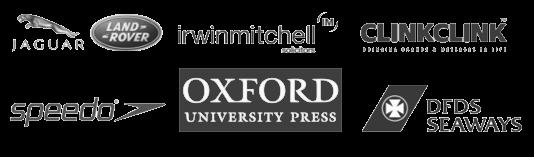 speedo jaguar land rover clients irwin mitchell clinkclink oxford university press dfds seaways